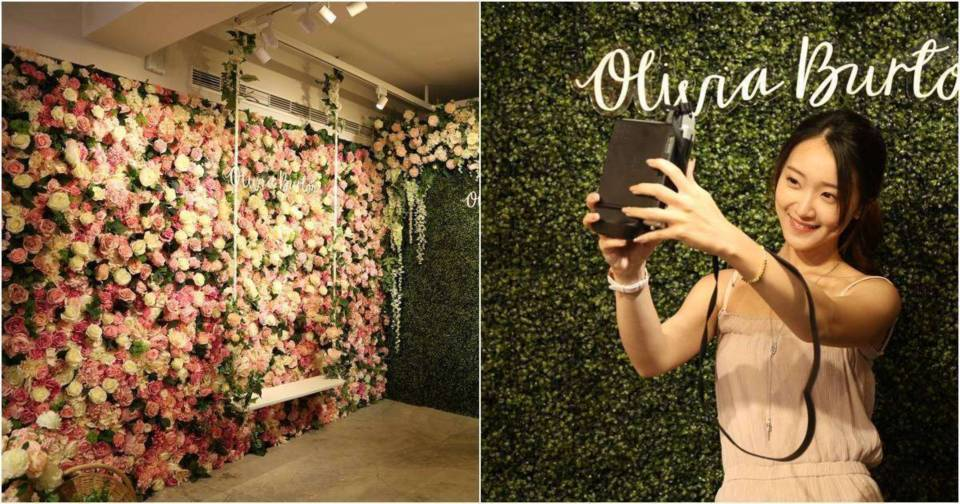【網美打卡熱點】Olivia Burton限定快閃花店!快來拍花牆美照搶機票!