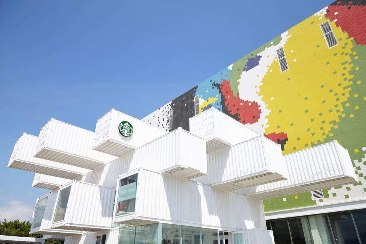 【網美打卡熱點】 快來報到!全台最美的純白貨櫃屋星巴克怎麼拍都漂亮!